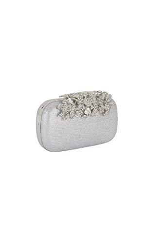 Mascara Silber Cb886 Abendtasche Mit Kristallbesatz One Size
