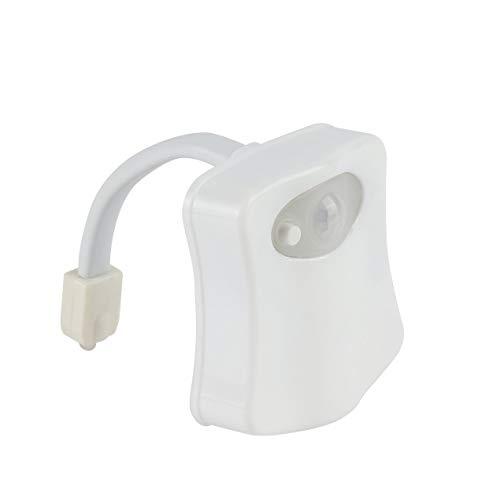 Smart LED Bewegungsmelder aktiviert Toilette Nachtlicht Badezimmer mit 8 Farben Toilettensitz Lampe Automatische Sensor Sitz Licht - Weiß