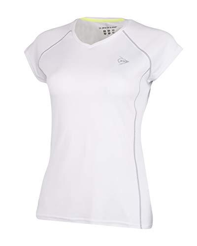 Dunlop 71363 Camiseta, Womens, Blanco, XS