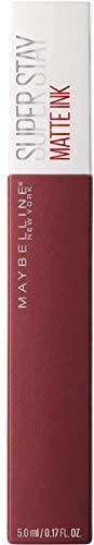 Maybelline New York SuperStay Matte Ink, Pintalabios Mate de Larga Duración, Tono 50 - Voyager, Rojo Ladrillo