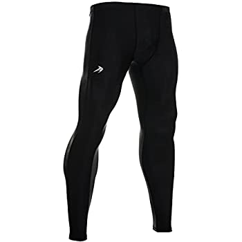 CompressionZ Men s Compression Pants Base Layer Running Tights Gym Leggings  Black S