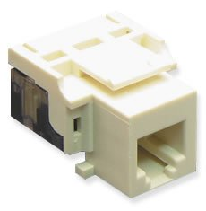 ICC Voice RJ11 Keystone Jack for EZ Style, Almond