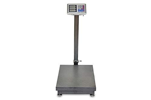 AgoraDirect - Balance de Plate-forme 500kg/100g, Affichage Numérique Lcd Double Face, Pliable, Grande Plate-forme En Acier Renforcé 45x60cm, Autonomie De La Batterie 40h, Balance Postale Robuste