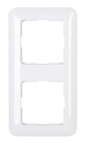 Kopp 405102002 Abdeckrahmen 2-fach Schalterprogramm Cadiz in Farbe arktis-weiß