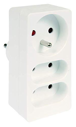 Voltman DIO013102 - Cable alargador eléctrico con 4 enchufes (1 x 10/16 A + 2 x 6A)