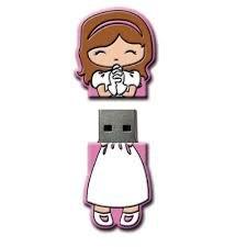 Lote 10 Memorias USB COMUNIÓN NIÑA 4GB Detalles y