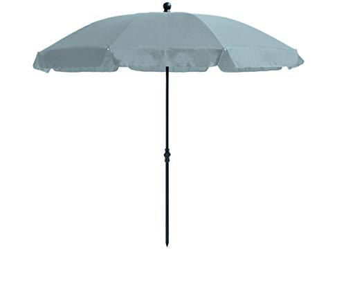 Madison Absolut wetterfester Gartenschirm Lanzarote 250 grau, mit Kurbel, UV-Schutz 40 Plus und Knicker