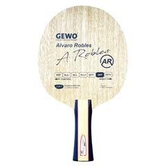 GEWO Erwachsene Holz Alvaro Robles Off/Pro Player Series Tischtennis, Gelb/Rot, Gerade