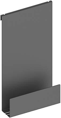 KEUCO Duschablage aus Aluminium, schwarz-grau, mit abnehmbarem Korb, Handtuchhaken und Ablaufschlitzen, 32x60x12cm, zum Einhängen in der Dusche