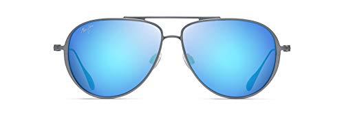 Maui Jim Gafas de sol SHALLOWS B543-27A | Marco color gris paloma y lentes polarizadas Blue Hawaii