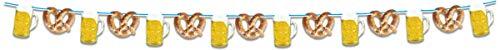 1 Girlande 10m mit hängenden Motiven Bierkrug & Brezel Oktoberfest
