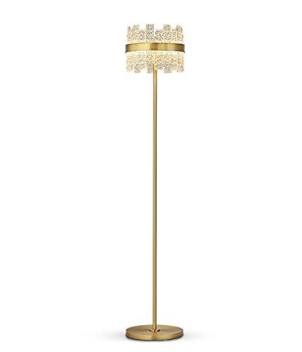 ZXPPL Lámpara de Mesa de Lujo con luz de Cobre, lámpara de pie de Sala de Estar de Cristal de diseñador Creativo Minimalista posmoderno, lámpara de cabecera con impresión de Agua Personalizada