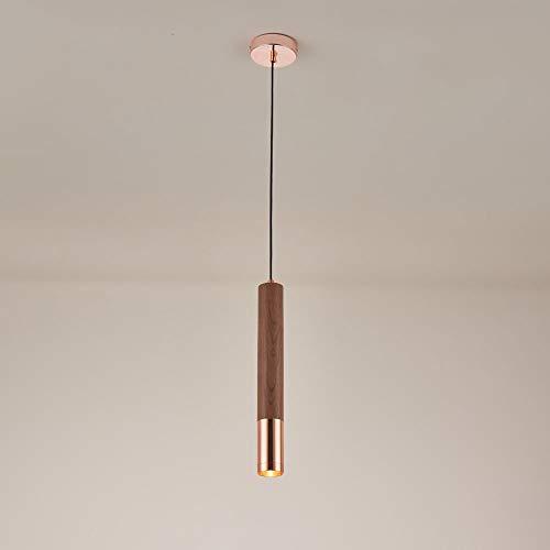 10W LED Techo Colgante Luz Luz de Madera Metal Lámpara Colgante, Lámpara de Iluminación Moderna Suspensión Mini Lámparas Simple Aparadas Simple para Dormitorio Sala de Estar Salón Comedor