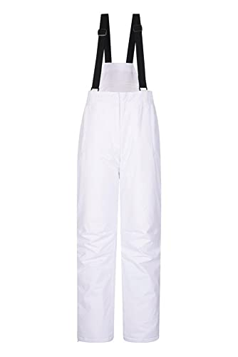 Mountain Warehouse Moon Pantaloni da Neve Donna - Resistenti all'Acqua, girovita Regolabile - Ideale Indumento da Sci, Invernale Bianco 42