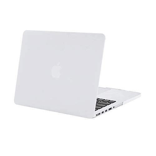 MOSISO Custodia Rigida in Plastica Snap On Caso Compatibile Solo con Versione Precedente MacBook PRO Retina 13 Pollici (Modello: A1502&A1425)(Uscita 2015-Fine 2012), Bianco