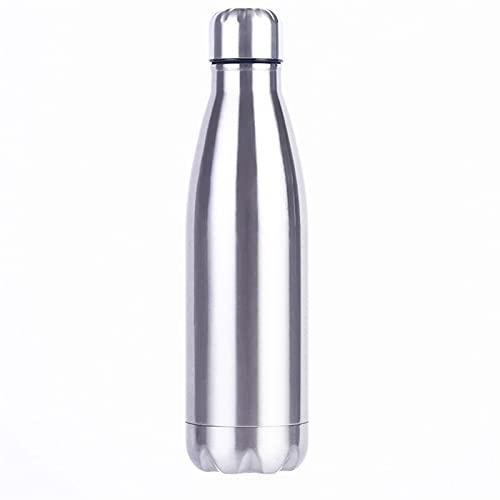 SHUJINGNCE Rostfreie cola Bewegung Sport wasserflasche robust Wasser Becher monolayer Keine wärmeerhaltung Metall Farbe cola trinkflasche Trinken (Color : 750ML)