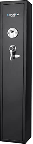 Barska Quick and Easy Access Biometric Rifles, Firearms and Long Guns Safe for Home, Removable...