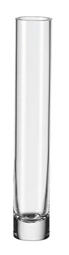 Leonardo Vase Noble, Höhe 30 cm, Durchmesser 6 cm, handgefertigtes Klarglas, 014080