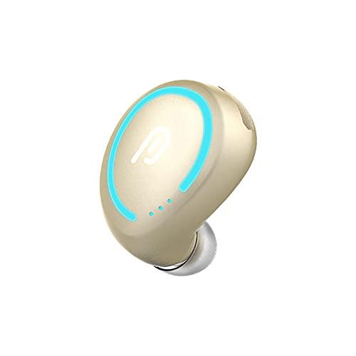 Lalaluka Mini Bluetooth Kopfhörer Kabellos In Ear Headset, Miniatur-Ohrhörer Unsichtbarer kabelloser Kopfhörer In-Ear-Ohrhörer mit Mikrofon Langes Standby