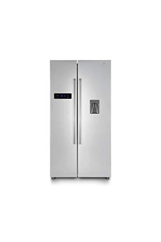 Continental edison - réfrigérateur américain-525 l (348 + 177l)-no Frost-a+-l 89,5 x h 178,5 cm-INOX-Distributeur d'eau...