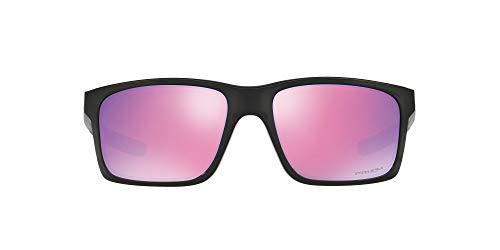 Oakley Men's Mainlink OO9264-23 Non-polarized Iridium Rectangular Sunglasses, Polished Black w/Prizm Golf, 57 mm