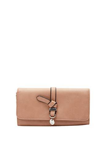 s.Oliver Damen Portemonnaie mit Zierriegel beige 1