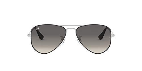 Ray-Ban JUNIOR 0RJ9506S Gafas de Sol, Silver On Top Black, 50 Unisex