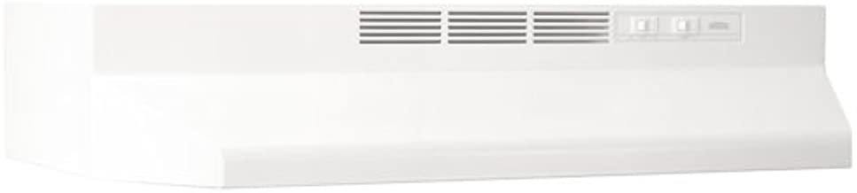 Broan-NuTone Broan 413001 ADA Capable Non-Ducted Under-Cabinet Range Hood, 30-Inch, White,