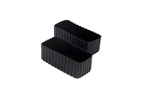 Little Lunch Box Co., Bento Cups, Silikonformen für Bento Box (Schwarz, Rectangle)