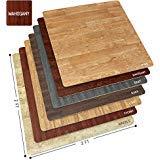 Sorbus Wood Grain Floor Mats Foam Interlocking Mats Tile 3/8-Inch Thick Flooring Wood Mat Tiles Borders - Home Office Playroom Basement Trade Show (12 Tiles, 48 Sq ft, Mahogany)
