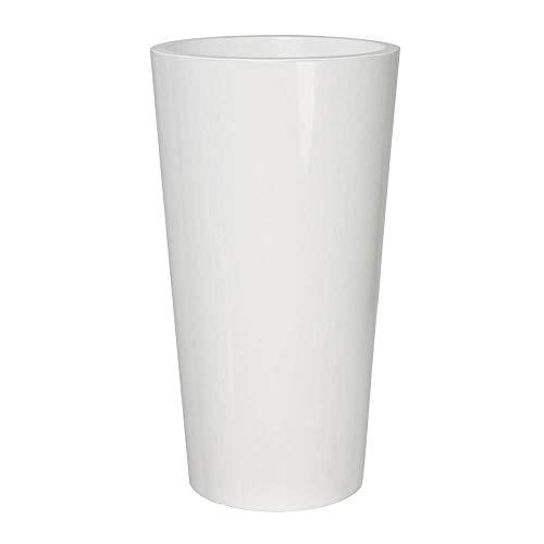 Euro3Plast 2785.A4374 Tuit Blumentopf mit Wasserspeicher und Einsatztopf Farbe Weiß 33 cm
