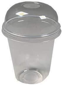 【プラカップ・紙コップ】テイクアウト 使い捨てカップ タピオカ95口径16オンス+ドーム蓋(100個)