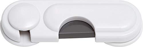 ABUS Glas-Schranksicherung Lia Sicherung für Türen, Schränke und Schubladen - einfache Montage - 1 Stück - weiß - 76970
