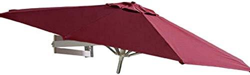 ZEH Sombrillas de Montaje en Pared Sombrilla for el Patio - jardín al Aire Libre Balcón inclinable sombrilla, 7 pies / 220cm (Color: Rojo de Vino) (Color: Vino Tinto) FACAI (Color : Wine Red)