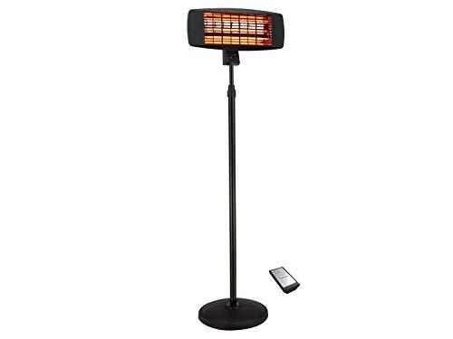 Traedgard® Infrarot Stand Heizstrahler Morsum 2000 Watt mit Fernbedienung und Standfuß, 64548