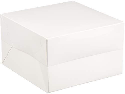 Club Green Gâteau Boîte carrée, Blanc, 200 x 200 x 130 mm