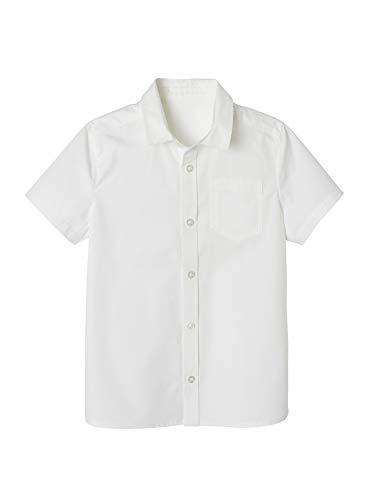 Vertbaudet Jungen Hemd mit kurzen Ärmeln weiß 140