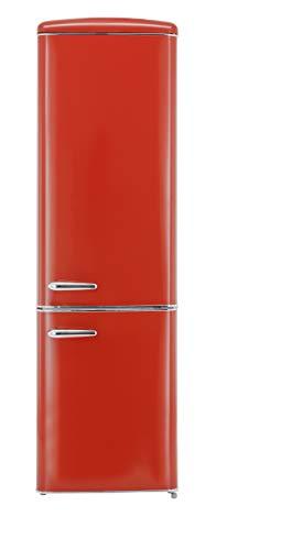 Exquisit RKGC 250/70-16 A++Rot Retro-Kühl-Gefrierkombination/EEK: A++/4* Gefrierfach/181 Liter Kühlen/63 Liter Gefrieren/ Retro-Handgriff/Rot