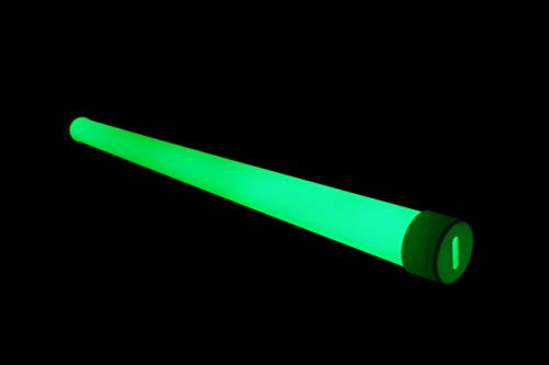 NighTec YourTube LED TL-buizen Sleeve - Glow in the dark plafondlamp - lamp met licht in neon groen in het donker