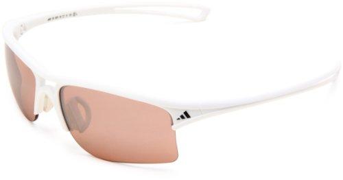 adidas raylor S Rectangular Sunglasses, Shiny White, 60 mm