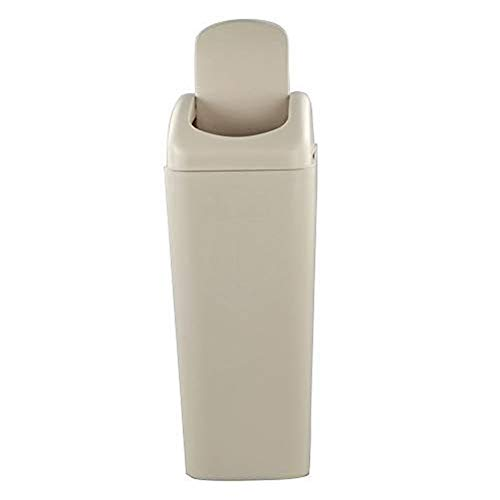 Utiao Slim Plastic Garbage Bins, Small Swing Trash Cans for Kitchen, Office, Bathroom