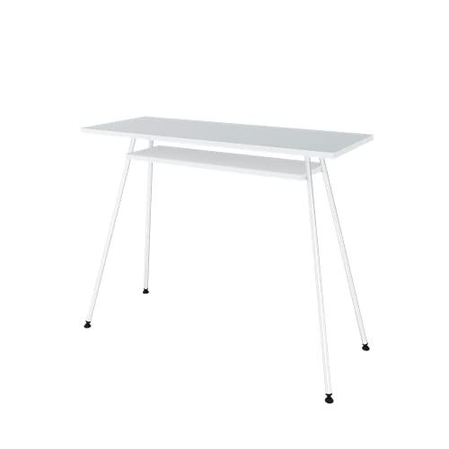 LEVIRA Escritorio, Mesa de Escritorio Kost Dash, 100 x 40 x 75 - Blanco