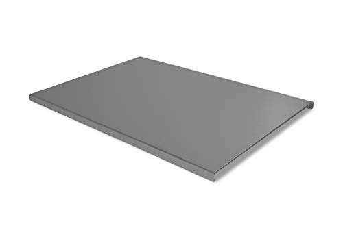 Lisa - Tabla de cortar de acero inoxidable Plan tamaño 80 x 55 cm con patas antideslizantes