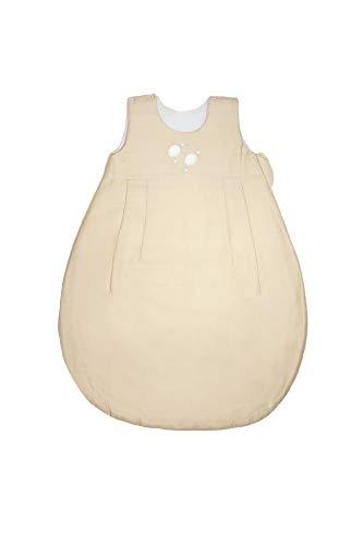 ZEWI bébé-jou Baby Ganzjahresschlafsack, Tencel, Größe: 86/92 (18-24 Monate), Écru
