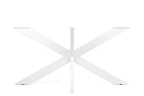 IDECHA | Tischgestell Spider - Tischbeine Massivstahl Kreuzgestell Schwerlast Metall DIY Konferenztisch Schreibtisch Esstisch X Design | Einfache Montage -Tischfüße (150 x 81 x 72 cm, Weiß)