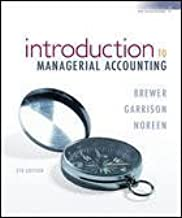 Introduction to Managerial Accounting, 4th. Edition. Includes Howework Manager Access Card. Isbn:9780-0-07-7237703-7.