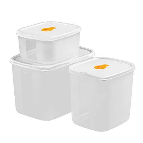 MiTaiyau 3Pcs Food Case Moisture a Prova di Reusable Lid Design Multifunctional Food Case Holder per Daily Use 2