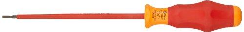 Wera 05031584001 Kraftform Comfort VDE 1160i Slotted Insulated Screwdriver, 4mm Head, 150mm Blade Length