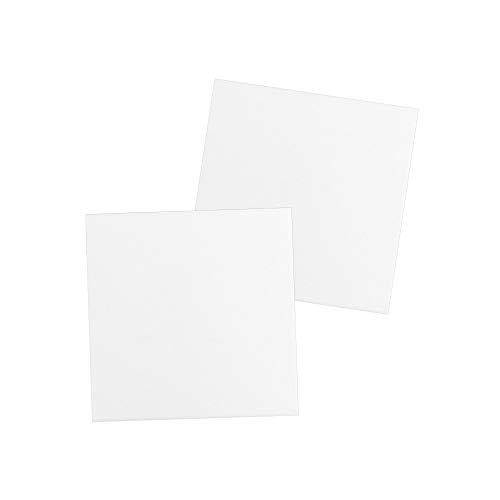 Leinwand auf Keilrahmen | 280 g/m² | weiß | ideal zum Bemalen mit Acrylfarben (20 x 20 cm | 2 Stück)