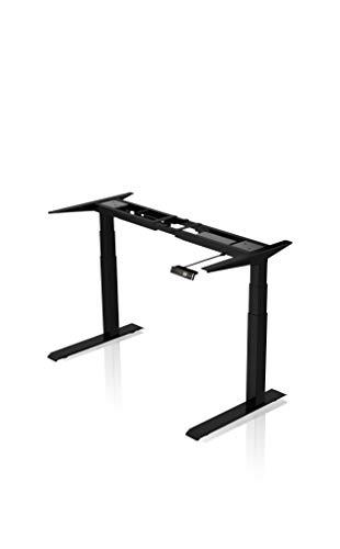 - AGIL - Elektrisch höhenverstellbarer Schreibtisch - Standing Desk in verschiedenen Farben & Größen - Ergonomischer Schreibtisch für Kinder und Erwachsene (Doppelmotor Schwarz)